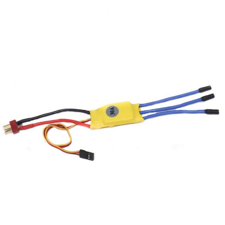 30A BLDC Brushless Motor Speed Controller  Esc for Quadcopter Plane Helicopter (Yellow)