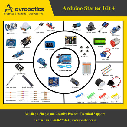 Arduino Starter Kit-4 (Beginner To Advanced)