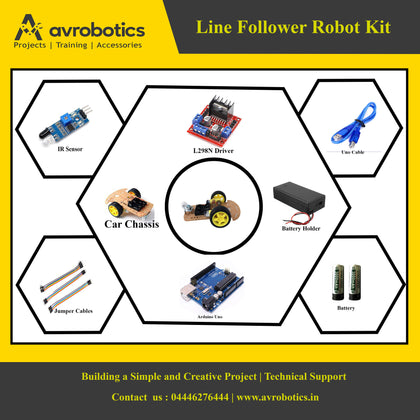Line Follower Smart Robot Car DIY kit