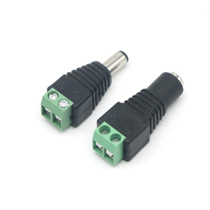 Male and Female DC Power Jack Adapter Connector