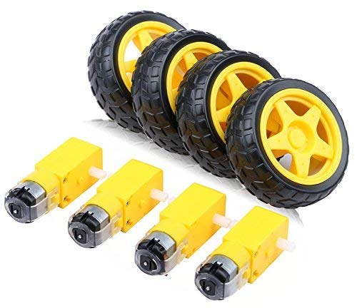 pack of 4 wheel and Bo Motor