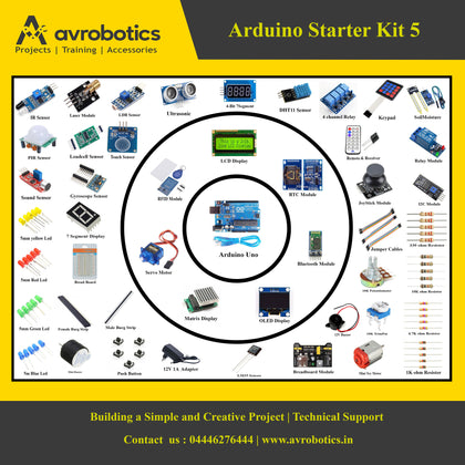 Arduino Starter Kit - 5 (Beginner To Advanced)