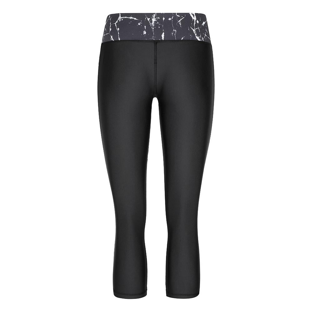 ACHIEVE 3/4 TIGHTS - BLACK MARBLE