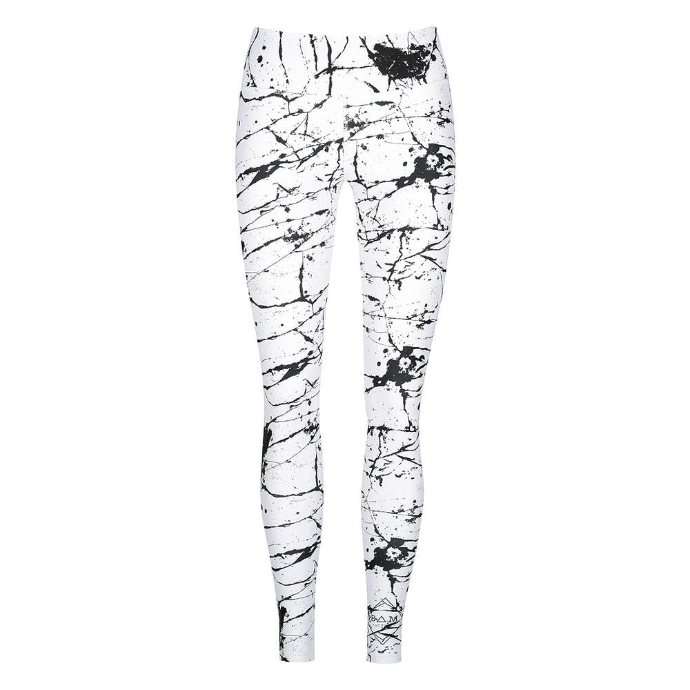 LIBERATE FULL LENGTH TIGHTS - WHITE MARBLE