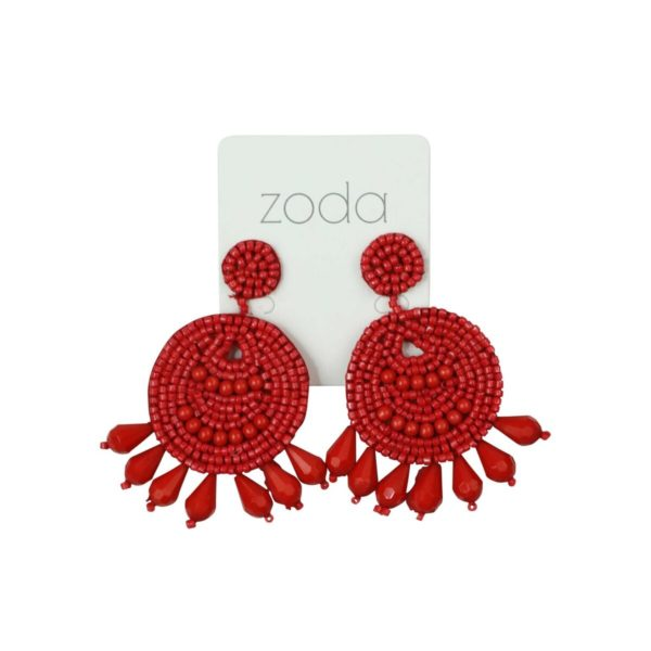 BEAD CIRCLE EARRINGS