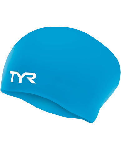 Junior Long Hair Wrinkle Free Swim Cap