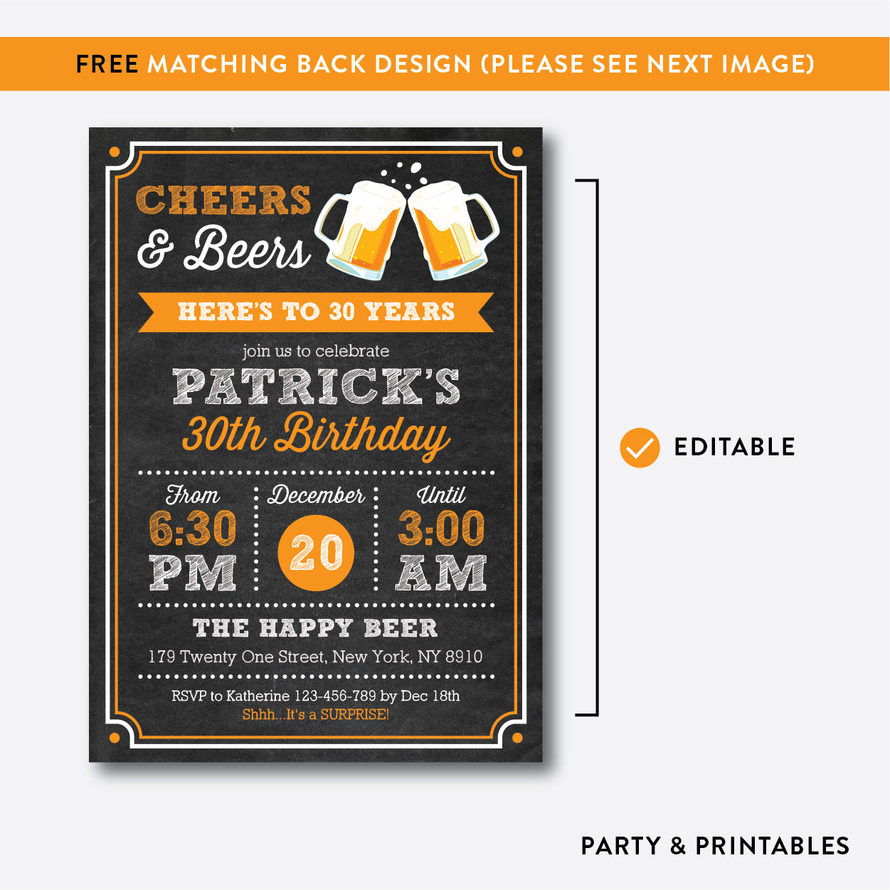 Cheers and beers adult birthday invitation editable instant cheers and beers adult birthday invitation editable instant download cab06 filmwisefo Image collections
