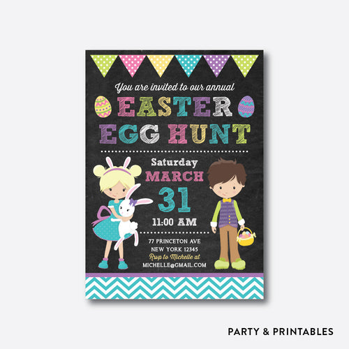 Easter Egg Hunt Holiday Invitation / Personalized (CHI.07)
