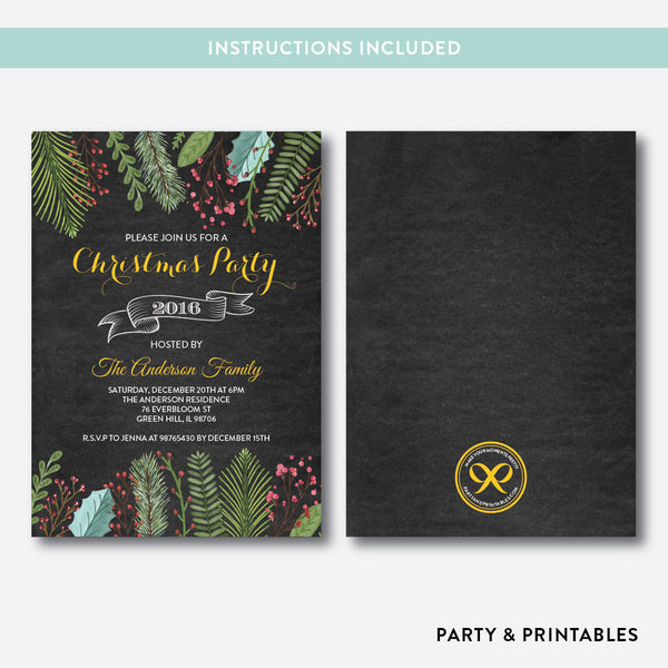 Christmas Party Invitation / Editable / Instant Download (CHI.15), invitation - Party and Printables