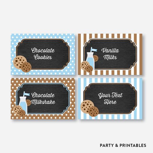 Cookies and Milk Chalkboard Food Labels / Editable / Instant Download (CKB.01)