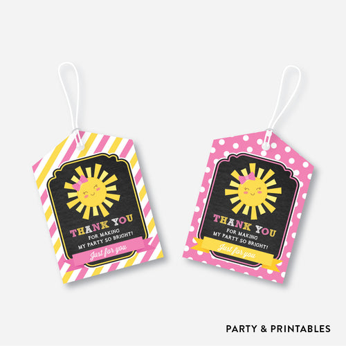 Sunshine Chalkboard Favor Tags / Non-Personalized / Instant Download (CKB.04)