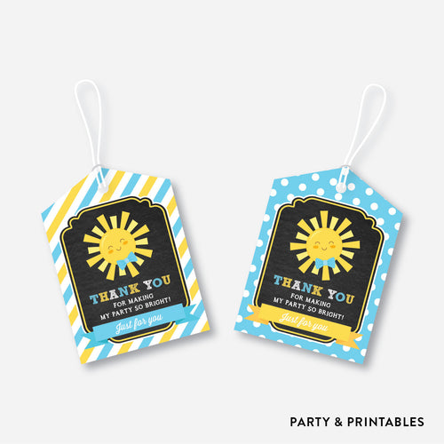 Sunshine Chalkboard Favor Tags / Non-Personalized / Instant Download (CKB.05)