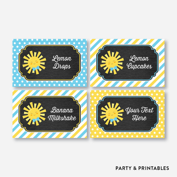 Sunshine Chalkboard Food Labels / Editable / Instant Download (CKB.05), party printables - Party and Printables