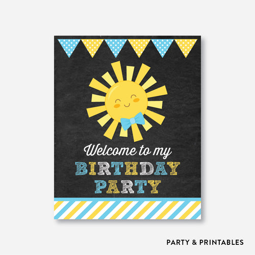 Sunshine Chalkboard Welcome Sign / Non-Personalized / Instant Download (CKB.05)