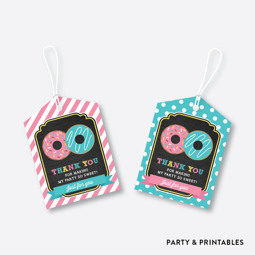 Donut Chalkboard Favor Tags / Non-Personalized / Instant Download (CKB.10)