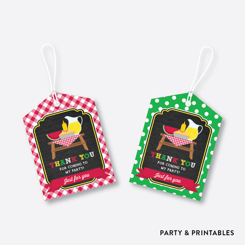 Picnic Chalkboard Favor Tags / Non-Personalized / Instant Download (CKB.120)