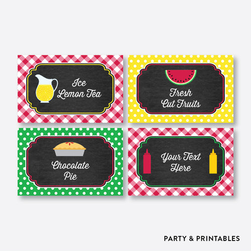 Picnic Chalkboard Food Labels / Editable / Instant Download (CKB.120)