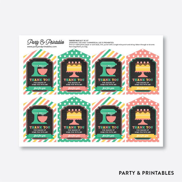 Baking Chalkboard Favor Tags / Non-Personalized / Instant Download (CKB.130), party printables - Party and Printables