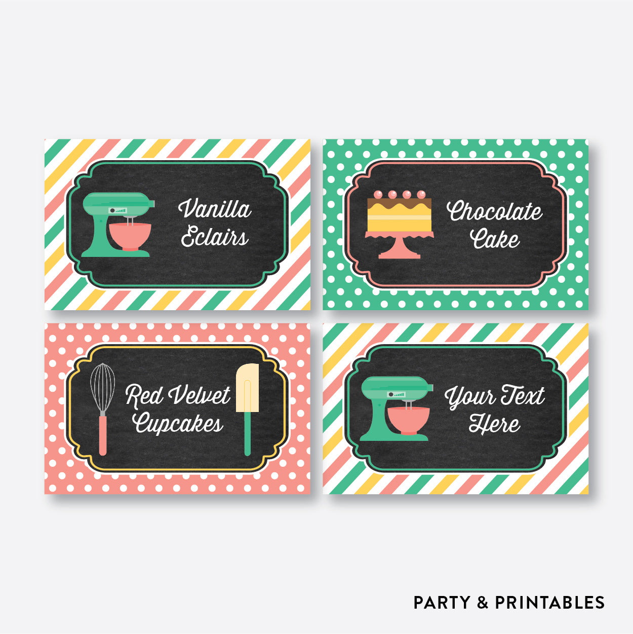 Baking Chalkboard Food Labels / Editable / Instant Download (CKB.130)