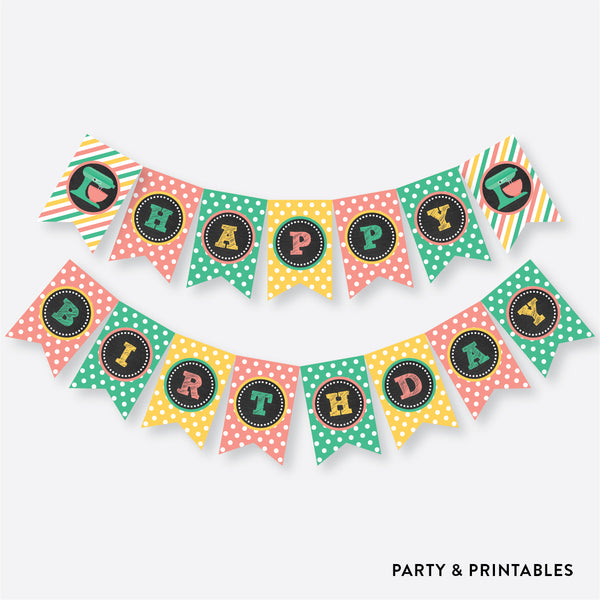 Baking Chalkboard Party Banner / Happy Birthday Banner / Non-Personalized / Instant Download (CKB.130), party printables - Party and Printables