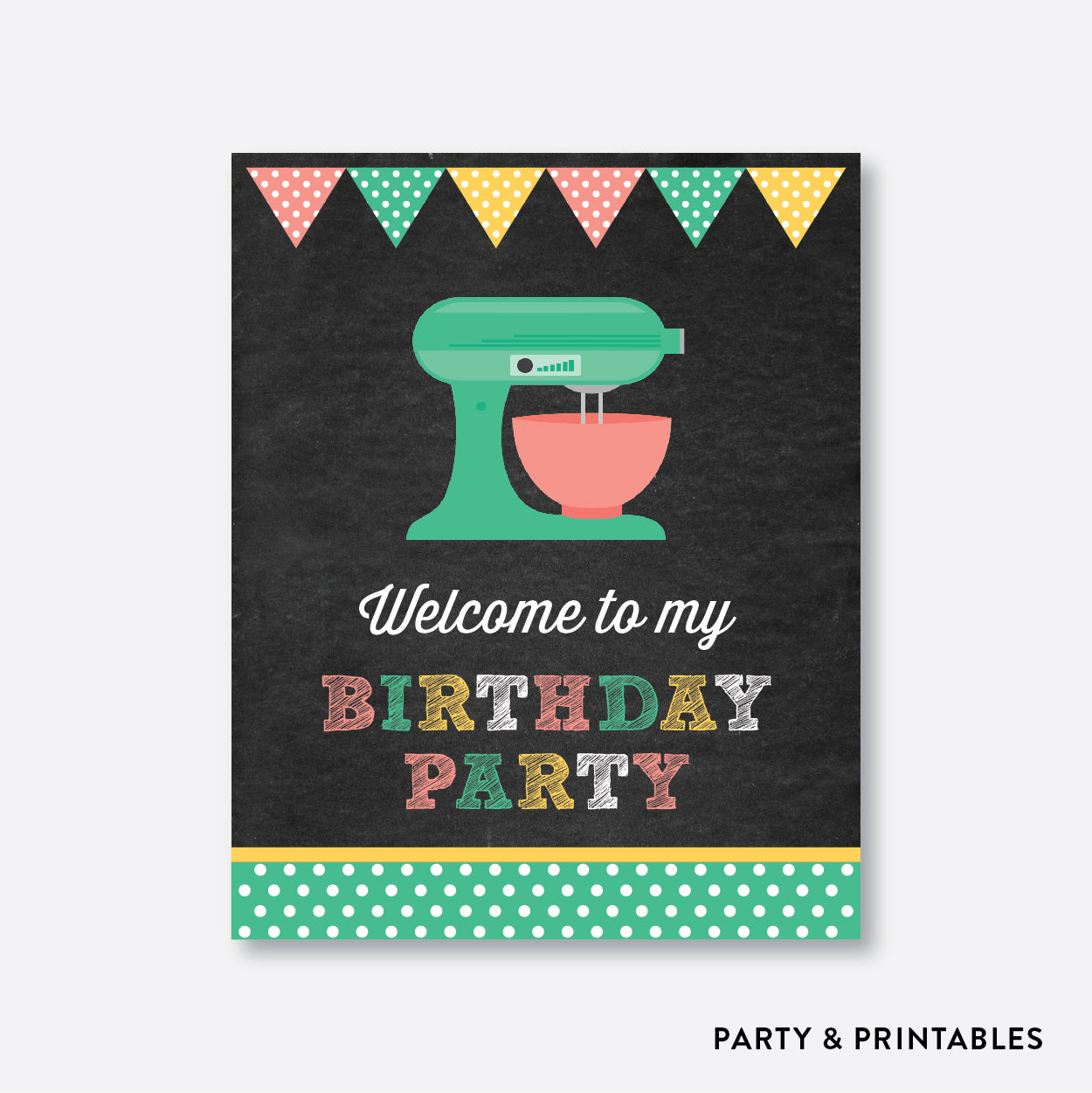 Baking Chalkboard Welcome Sign / Non-Personalized / Instant Download (CKB.130), party printables - Party and Printables