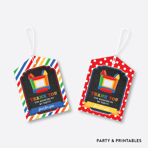 Bounce House Chalkboard Favor Tags / Non-Personalized / Instant Download (CKB.131)