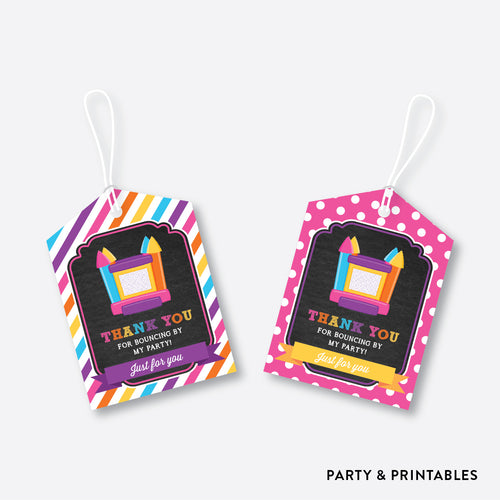 Bounce House Chalkboard Favor Tags / Non-Personalized / Instant Download (CKB.132)