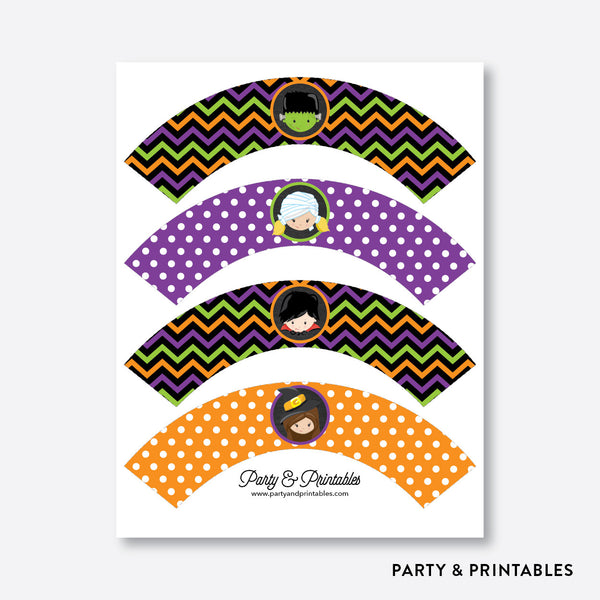 Halloween Kids Chalkboard Cupcake Wrappers / Non-Personalized / Instant Download (CKB.139), party printables - Party and Printables