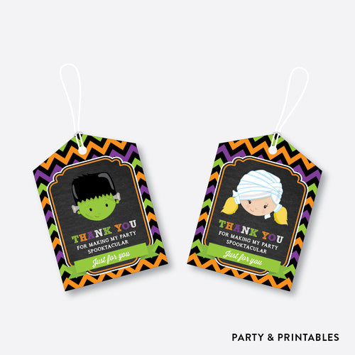 Halloween Kids Chalkboard Favor Tags / Non-Personalized / Instant Download (CKB.139)