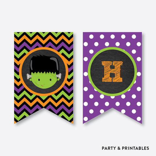 Halloween Kids Chalkboard Party Banner / Happy Birthday Banner / Non-Personalized / Instant Download (CKB.139)