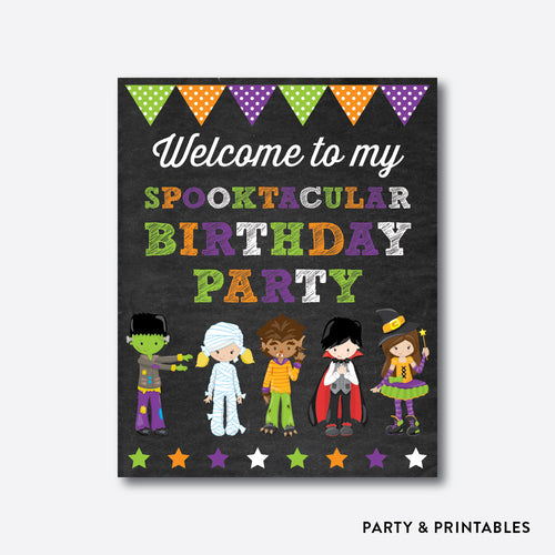 Halloween Kids Chalkboard Welcome Sign / Non-Personalized / Instant Download (CKB.139)