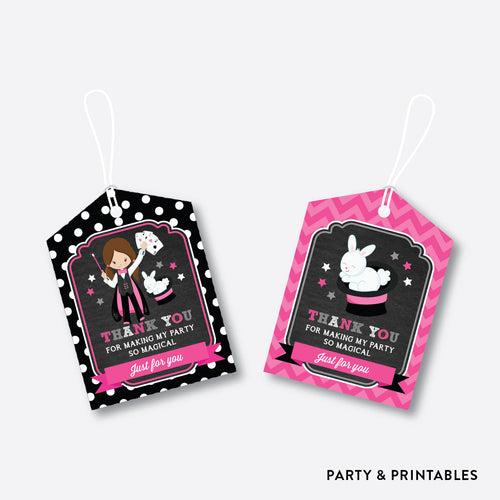 Magician Chalkboard Favor Tags / Non-Personalized / Instant Download (CKB.156)