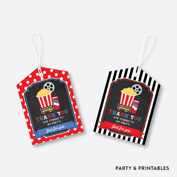 Movie Chalkboard Favor Tags / Non-Personalized / Instant Download (CKB.169), party printables - Party and Printables