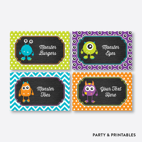 Monster Chalkboard Food Labels / Editable / Instant Download (CKB.21)