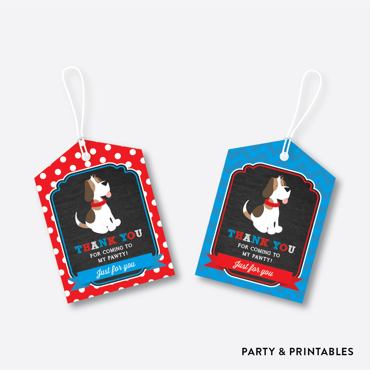 Little Dog Chalkboard Favor Tags / Non-Personalized / Instant Download (CKB.25)