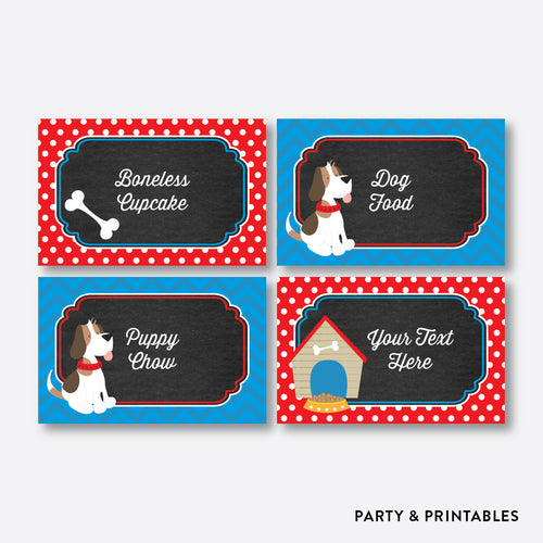 Little Dog Chalkboard Food Labels / Editable / Instant Download (CKB.25)
