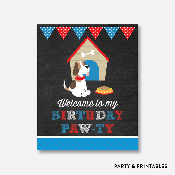 Little Dog Chalkboard Welcome Sign / Non-Personalized / Instant Download (CKB.25)