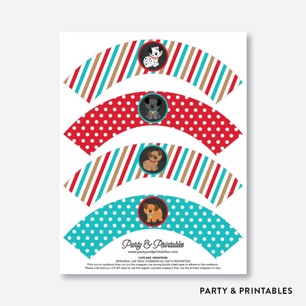 Dog Pawty Chalkboard Cupcake Wrappers / Non-Personalized / Instant Download (CKB.287), party printables - Party and Printables
