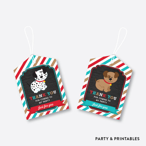 Dog Pawty Chalkboard Favor Tags / Non-Personalized / Instant Download (CKB.287)