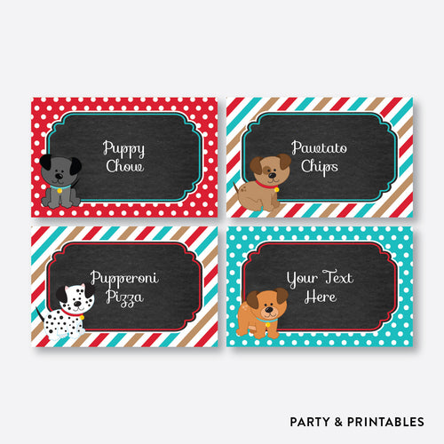 Dog Pawty Chalkboard Food Labels / Editable / Instant Download (CKB.287)