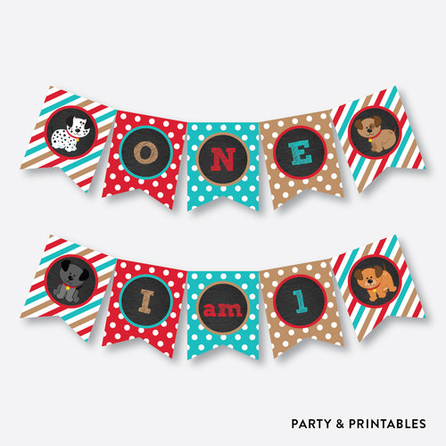 Dog Pawty High Chair Banner / Non-Personalized / Instant Download (CKB.287)