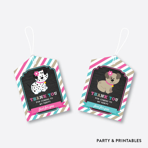 Dog Pawty Chalkboard Favor Tags / Non-Personalized / Instant Download (CKB.290)