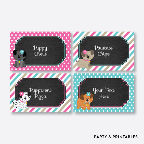 Dog Pawty Chalkboard Food Labels / Editable / Instant Download (CKB.290)