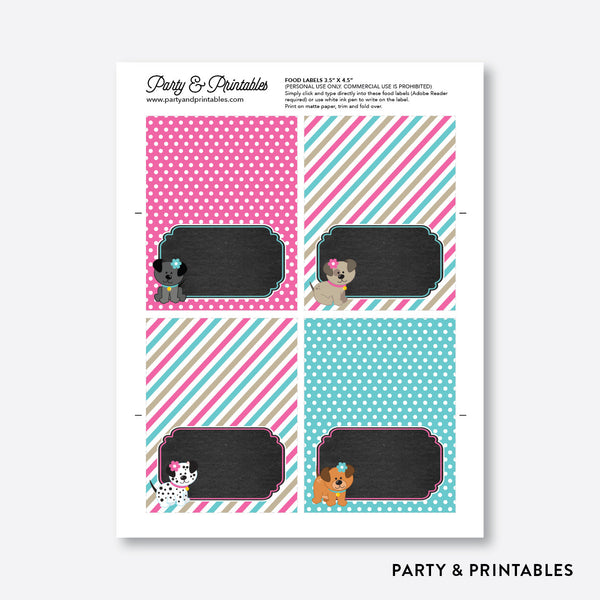 Dog Pawty Chalkboard Food Labels / Editable / Instant Download (CKB.290), party printables - Party and Printables