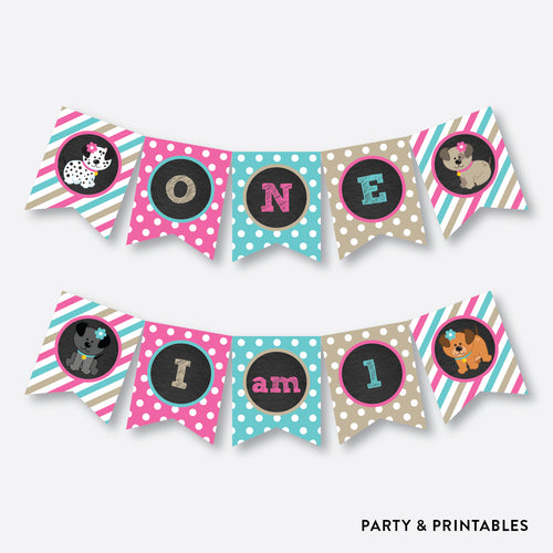 Dog Pawty High Chair Banner / Non-Personalized / Instant Download (CKB.290)