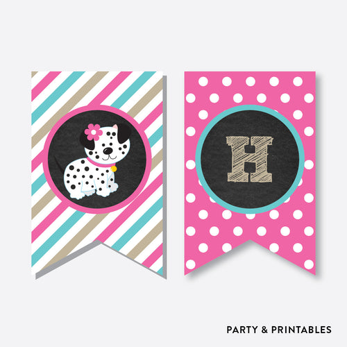 Dog Pawty Chalkboard Party Banner / Happy Birthday Banner / Non-Personalized / Instant Download (CKB.290)
