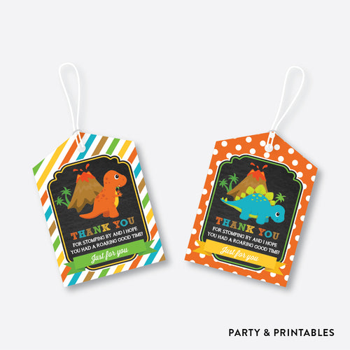 Dinosaurs Chalkboard Favor Tags / Non-Personalized / Instant Download (CKB.295)