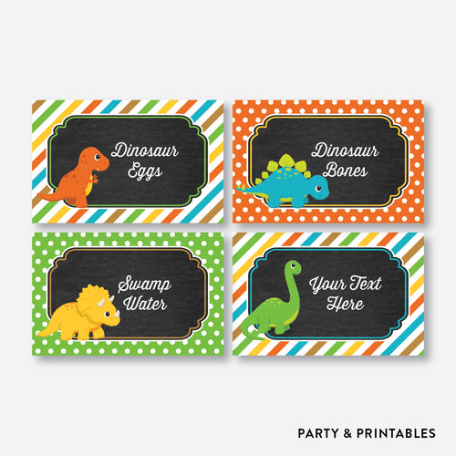 Dinosaurs Chalkboard Food Labels / Editable / Instant Download (CKB.295)