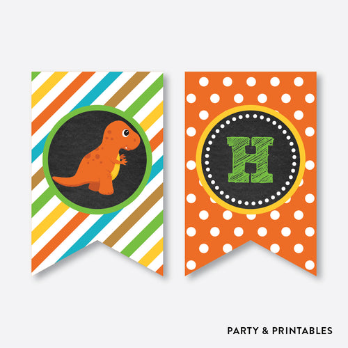 Dinosaurs Chalkboard Party Banner / Happy Birthday Banner / Non-Personalized / Instant Download (CKB.295)