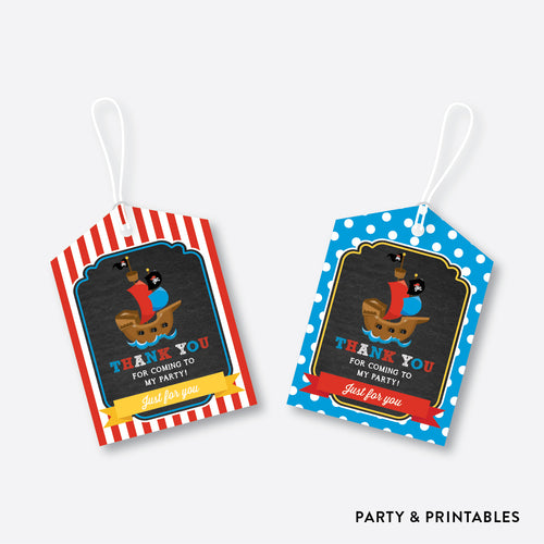 Pirate Ship Chalkboard Favor Tags / Non-Personalized / Instant Download (CKB.52)